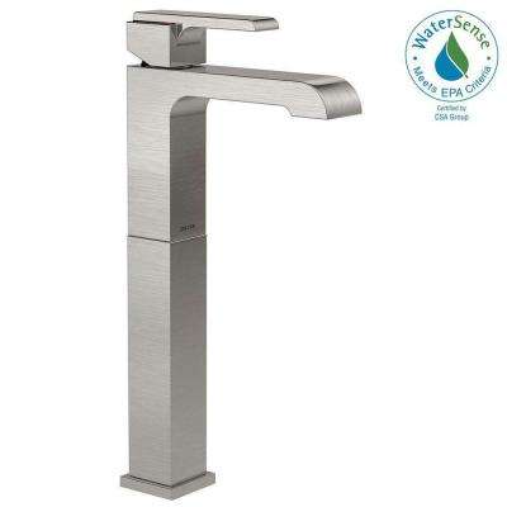 Ara Single Hole Single-Handle Vessel Bathroom Faucet in Stainless