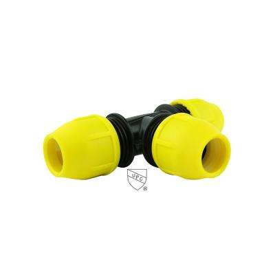 3/4 in. x 3/4 in. x 3/4 in. Underground Yellow Poly Gas Pipe Tee