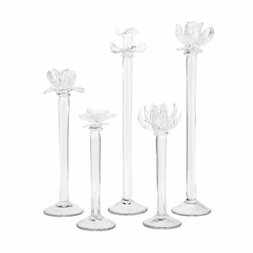 Monie Glass Flower Statuaries (Set of 5)