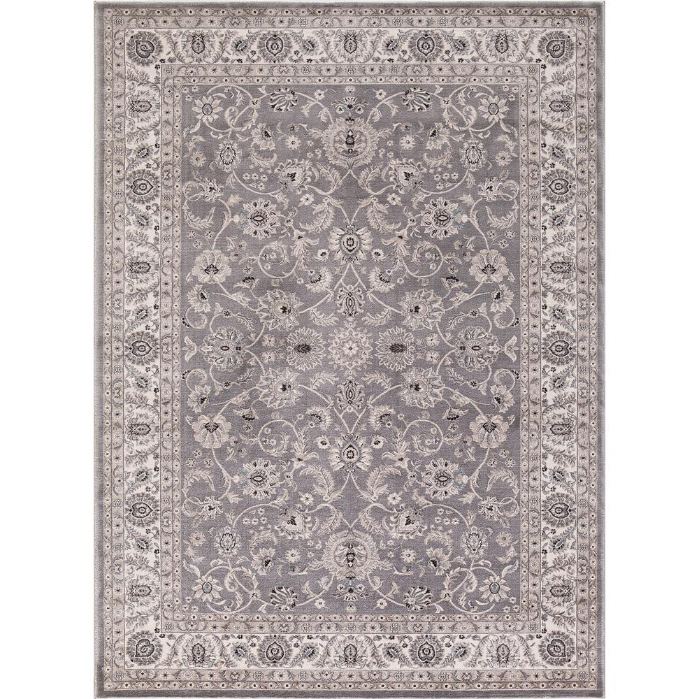 Concord Global Trading Kashan Bergama Gray 5 Ft X 7 Area Rug