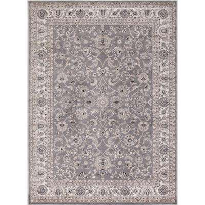 Kashan Bergama Gray 8 ft. x 10 ft. Area Rug