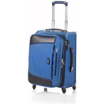 20 in. Navy Blue Hybrid Business Cabin Luggage