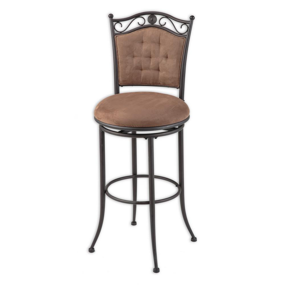 Fashion Bed Group 30 In Helena Metal Bar Stool With Cocoa