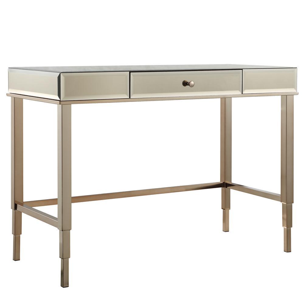 Cecilia Champagne Brass Desk