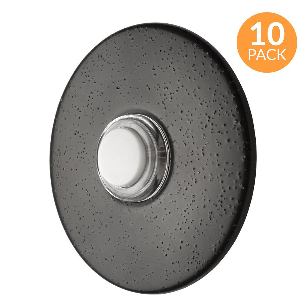 Round Lighted Wired Doorbell Push
