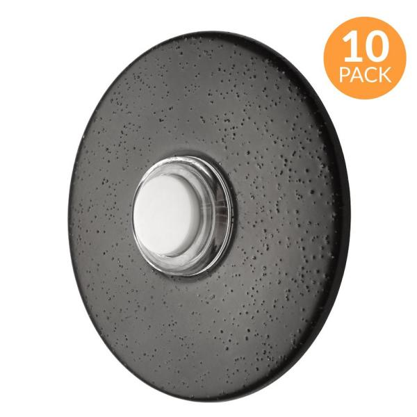 2-1/2 in. Round Lighted Wired Doorbell Push Button, Oil Rubbed Bronze (10-Pack)