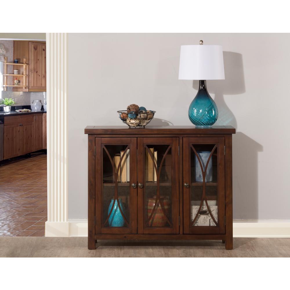 Hillsdale Furniture Bayside Rustic Mahogany 3 Door Cabinet
