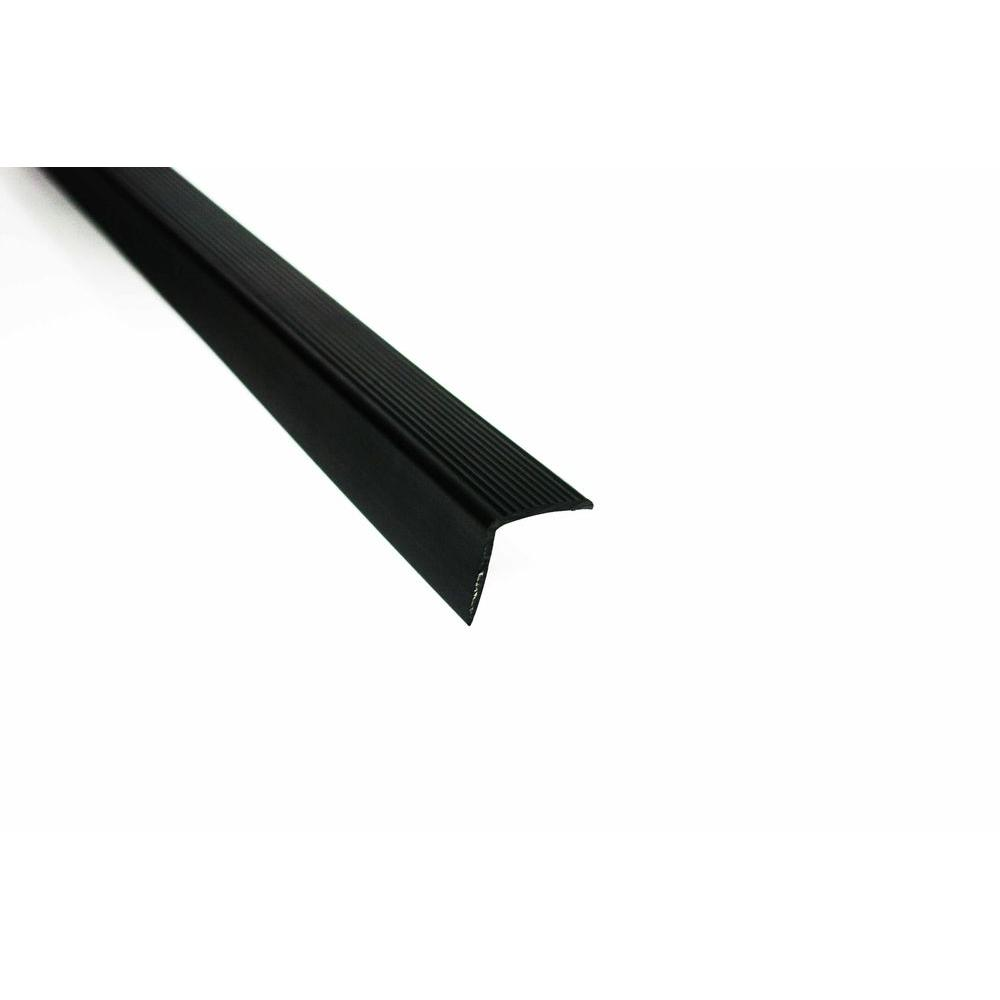 Trafficmaster 36 In Vinyl Stair Edging Black 18518 The