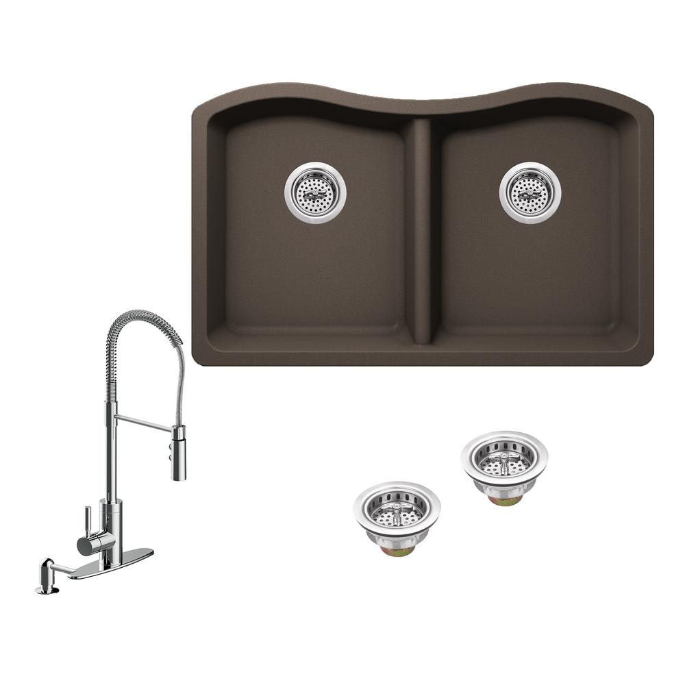 Ipt sink company all in one undermount granite composite for The kitchen sink company