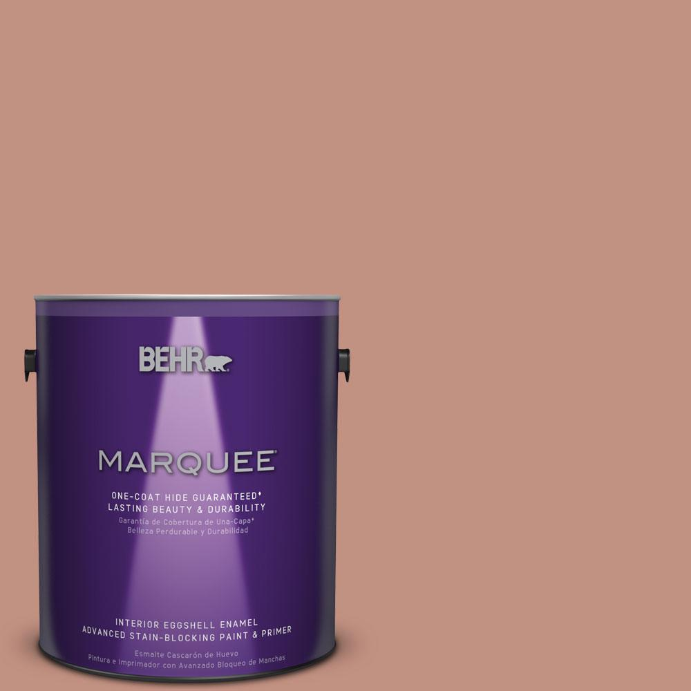 1 gal. #MQ1-51 Mesa Peach One-Coat Hide Eggshell Enamel Interior Paint