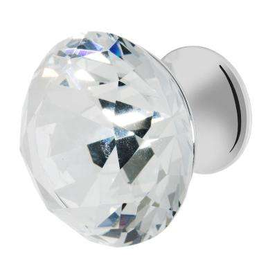 Nina 1-3/8 in. Chrome with Clear Crystal Cabinet Knob