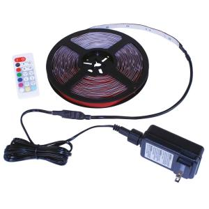 24 ft White & Multicolor (RGB+W) Indoor/Outdoor LED Tape Light w/Remote