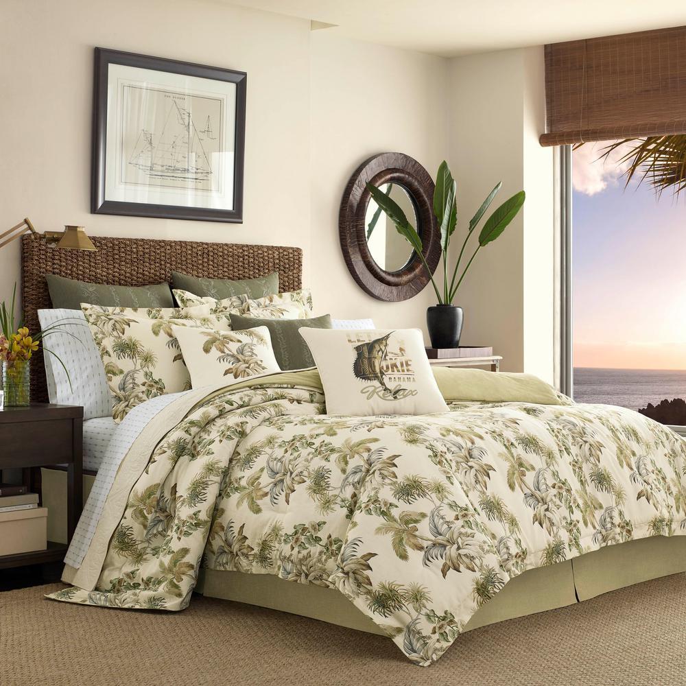 Tommy Bahama Nador 4 Piece Medium Beige California King Comforter