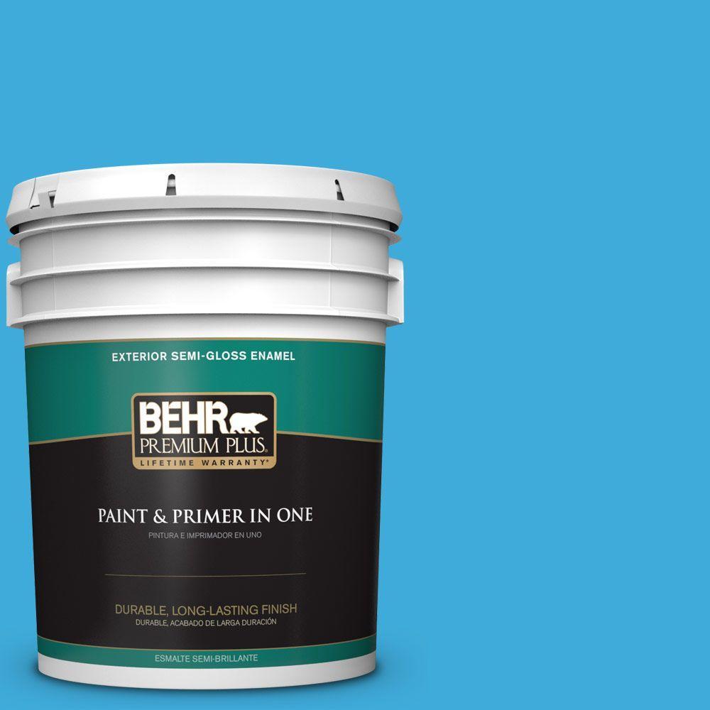 5-gal. #550B-5 Windjammer Semi-Gloss Enamel Exterior Paint