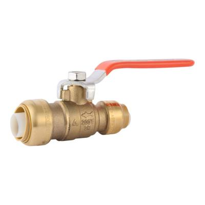 Sharkbite 1 2 In Brass Push To Connect Ball Valve 22222 0000lf The Home Depot