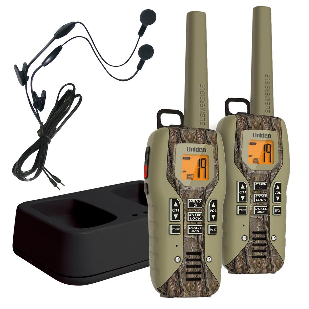 50-Mile GMRS/FRS Radio w/142 Privacy Codes Direct Call Weather Alert Headsets