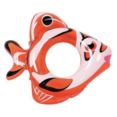 Adventurous Fish Inflatable Pool Tube - Novelty Orange Swim Ring for Kids