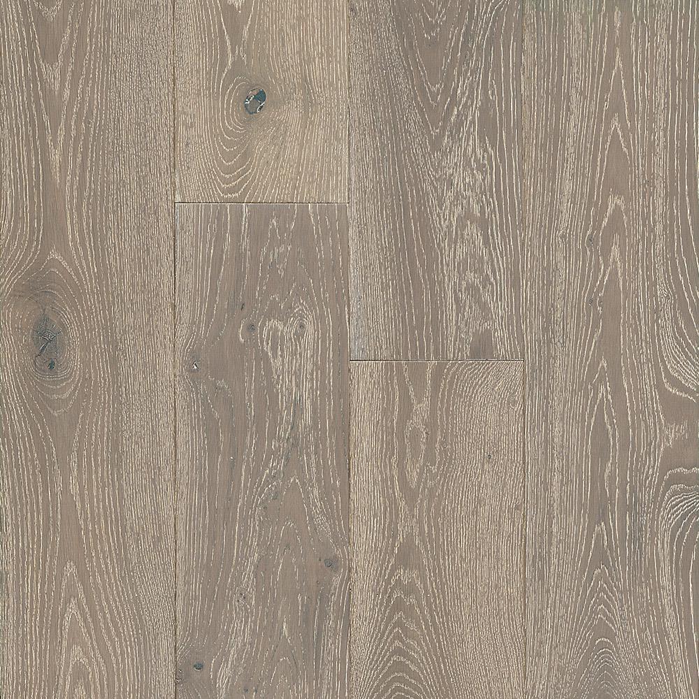 Take Home Sample - White Oak Greige Engineered Hardwood Flooring - 5 in. x 7 in.