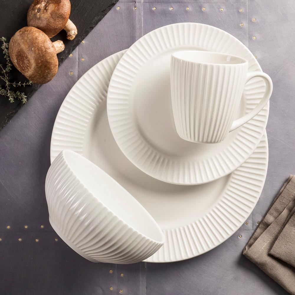 Aventura White 16-Piece Dinnerware Set