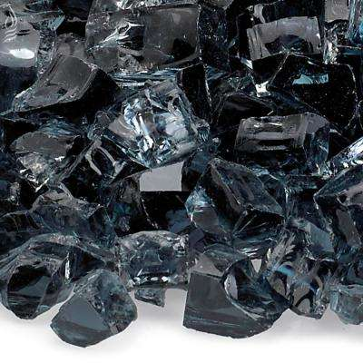 1/2 in. Gray Fire Glass 10 lbs. Bag