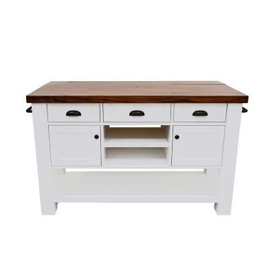 Hunter White Kitchen Island