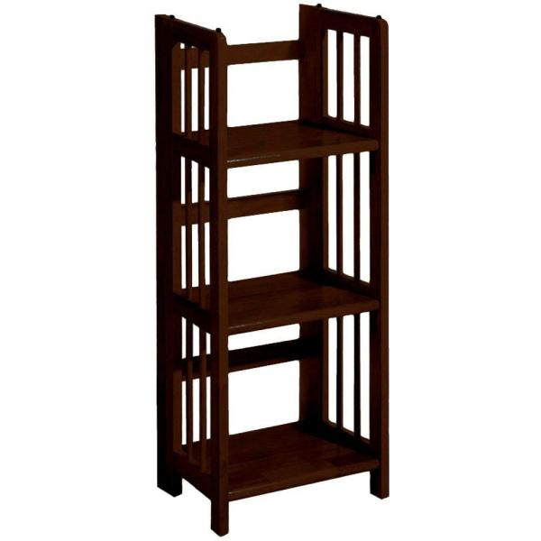 Casual Home Mahogany Folding/Stacking Open Bookcase 331-39