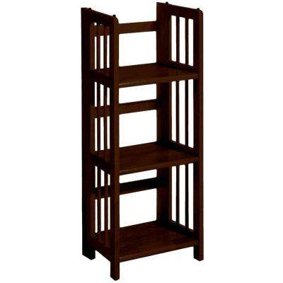 Mahogany Folding/Stacking Open Bookcase