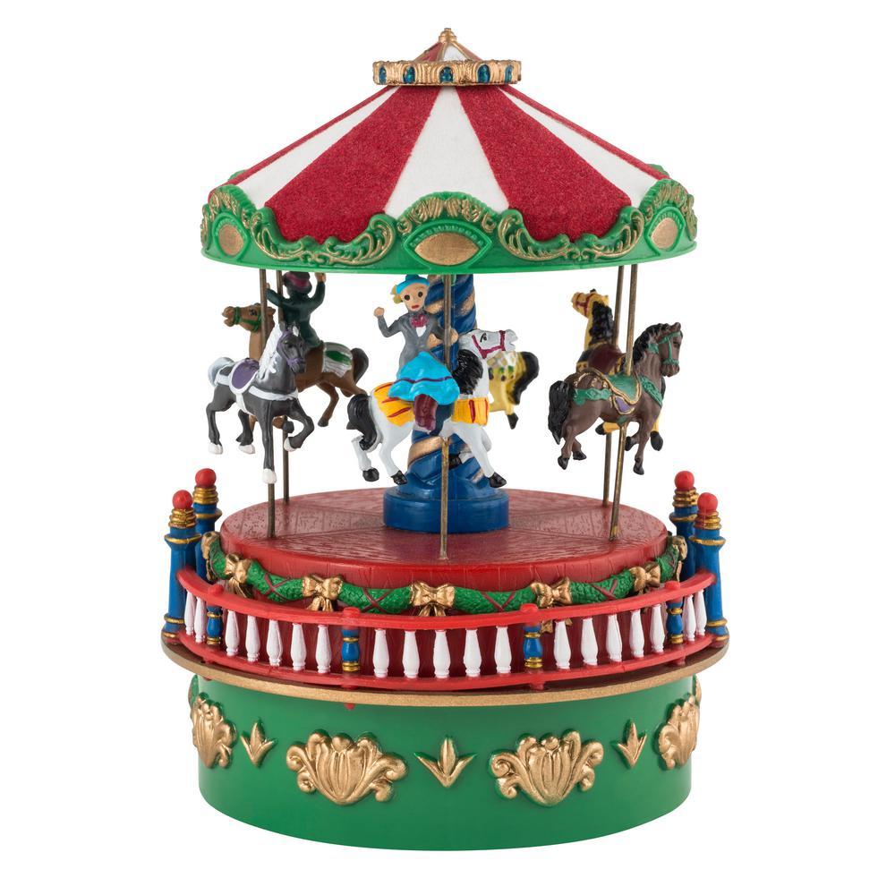 Mr Christmas Carousel.Mr Christmas 4 5 In Mini Carnival Music Boxes