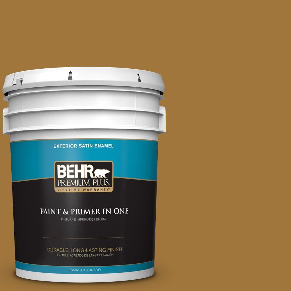 5-gal. #310F-6 Goldenrod Tea Satin Enamel Exterior Paint