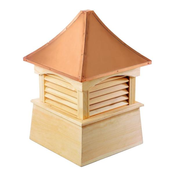 Coventry 42 in. x 57 in. Wood Cupola with Copper Roof