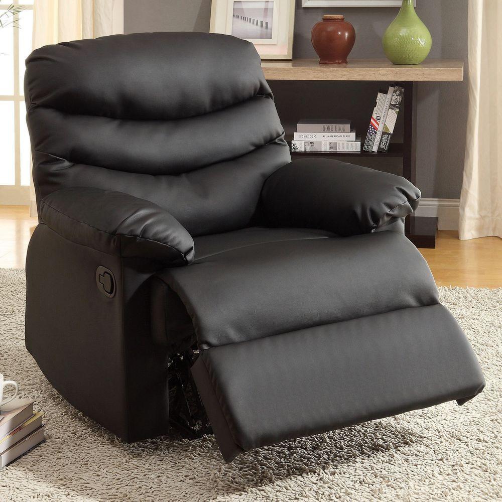 Furniture of America Pleasant Valley Black Bonded Leather Recliner & Furniture of America Pleasant Valley Black Bonded Leather Recliner ... islam-shia.org