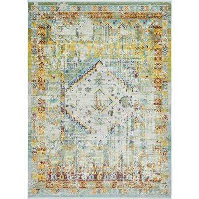 Havana Light Blue 10 ft. x 13 ft. Area Rug