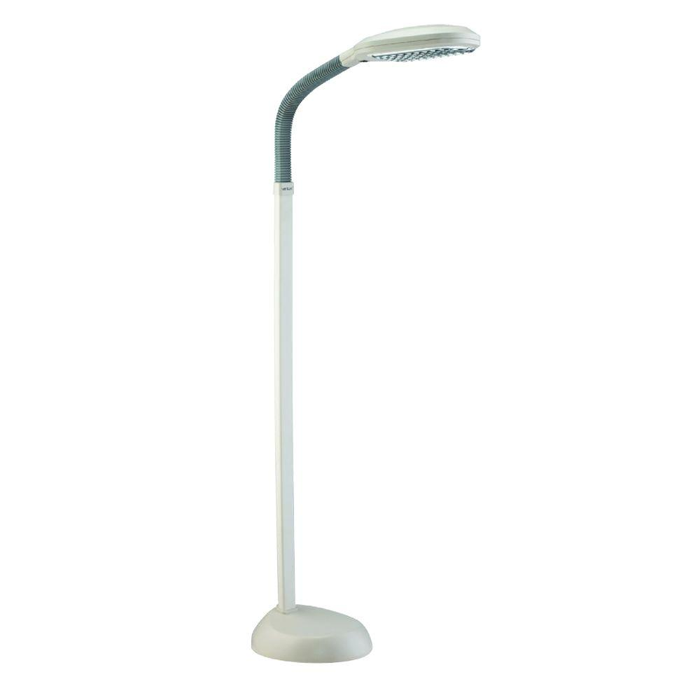 Verilux Original 48 in. Gooseneck Ivory Natural Spectrum Floor Lamp
