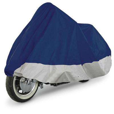 Premium Water Repellent Polyester 111 in. x 46 in. x 44 in. Double Extra-Large Motorcycle Cover