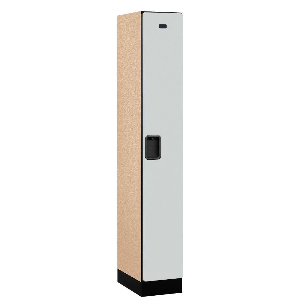 Salsbury Industries 31000 Series 12 in. W x 76 in. H x 18 in. D Single Tier Designer Wood Locker in Gray
