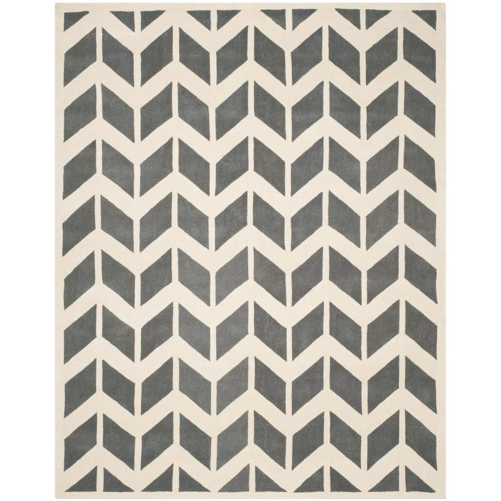Chatham Dark Gray/Ivory 8 ft. 9 in. x 12 ft. Area
