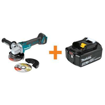 Brilliant 18 Volt Lxt Brushless Cordless 4 1 2 In 5 In Cut Off Angle Grinder With Bonus 18 Volt Lxt Lithium Ion 5 0 Ah Battery Squirreltailoven Fun Painted Chair Ideas Images Squirreltailovenorg
