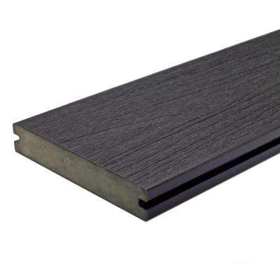 UltraShield Naturale Magellan 1 in. x 6 in. x 16 ft. Hawaiian Charcoal Solid w/ Groove Composite Decking Board (49-Pack)