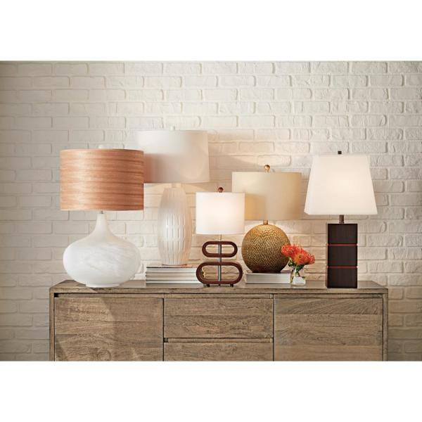 Walnut Adesso 3202-15 Rhythm 19.5 Table Lamp Smart Outlet Compatible One size