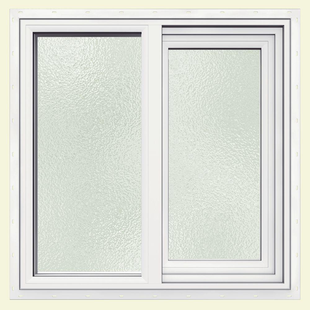 JELD-WEN 35.5 in. x 11.5 in. V-1500 Series Left-Hand Sliding Vinyl Window - White