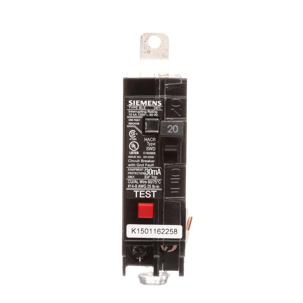 Square D Qo Qwik Gard 20 Amp Single Pole Gfci Circuit Breaker Ground Fault Interrupter Wiring 10 Ka Type Ble Gfi