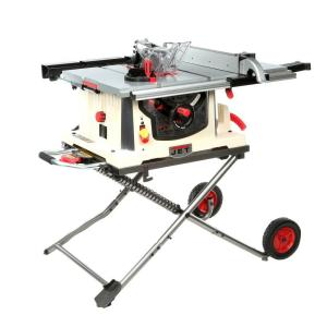 JET 15 Amp 10 inch Professional Jobsite Table Saw with Rolling Stand, 115-Volt, JBTS-10MJS by JET