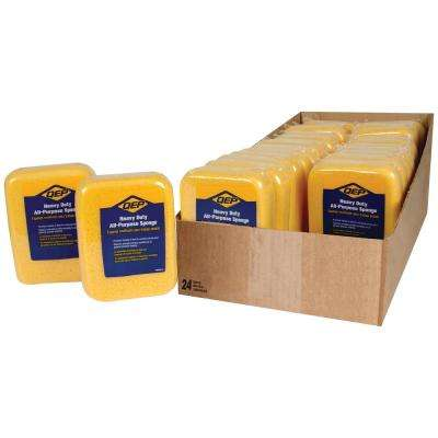 7-1/2 in. x 5-1/2 in. x 1-7/8 in. Extra-Large Grouting, Cleaning and Washing Sponge (24-Pack)