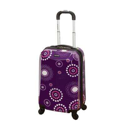 Vision 20 in. Purplepearl Hardside Carry-On Suitcase