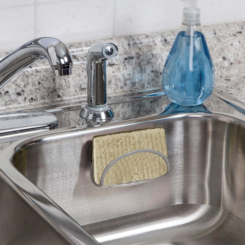 Real Solutions for Real Life Clear Sink Sponge Holder