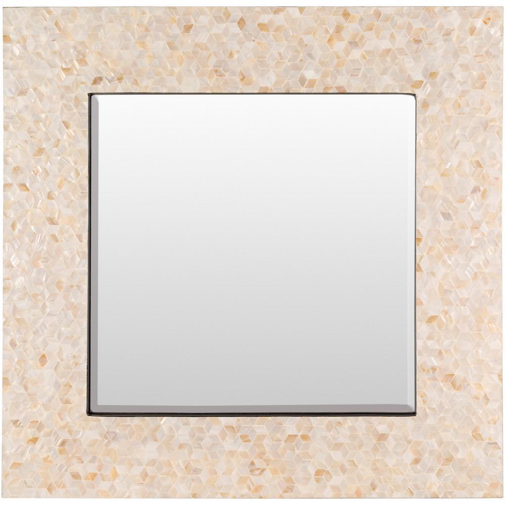 Ofelina 15.7 in. x 15.7 in. MDF Framed Mirror