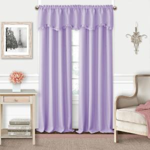 Adaline Lavender Polyester Single Blackout Window Curtain Panel - 52 inch W x 84 inch L by