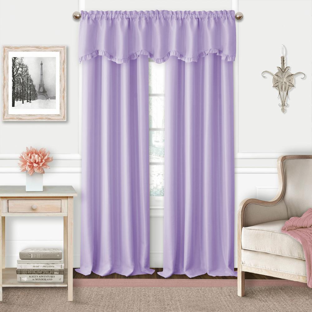 Adaline Lavender Polyester Single Blackout Window Curtain Panel - 52 in. W x 95 in. L