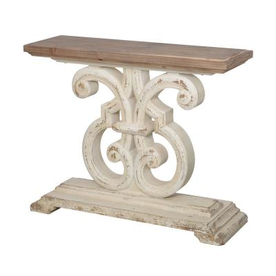 Bellamy White Rectangle Console Table