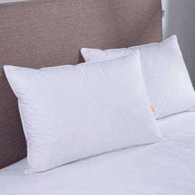 Puredown White Goose Down Blend Jumbo Pillow in Standard/Queen (Set of 2)
